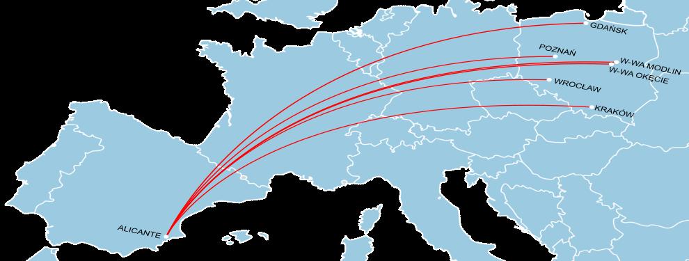 Połączenia z Polski do Alicante