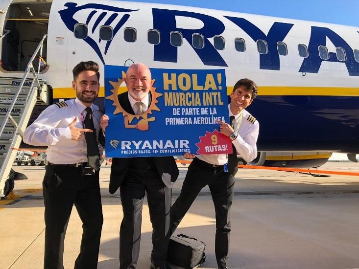 Ryanair w Murcia Corvera. Nowe połączenia lotnicze do Hiszpanii